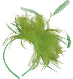 Neon Grüner Feder Haarreif