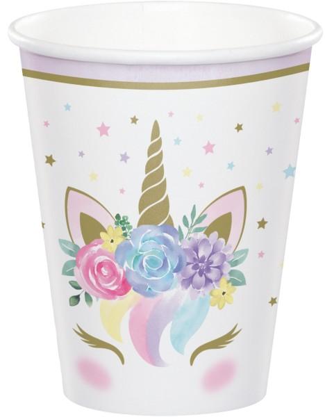 8 Princess Unicorn papirkopper 256 ml