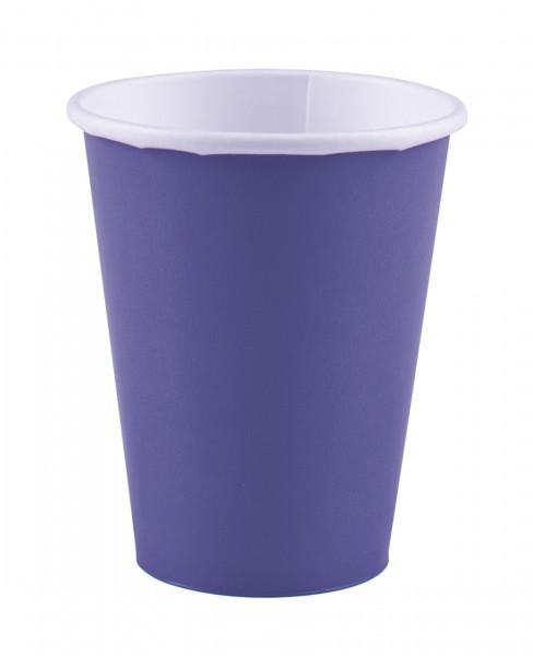8 paper cups Mila purple 266ml
