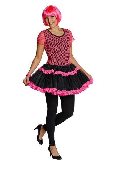 Pinkes Punk Neon Netz Kleid 1