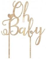 Oh Baby Tortendeko aus Holz 12,5cm