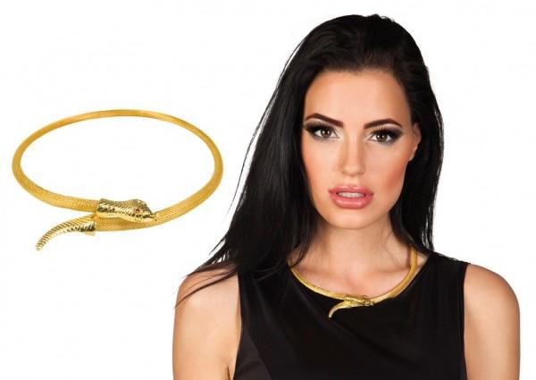 Edle Goldene Schlagen Halskette