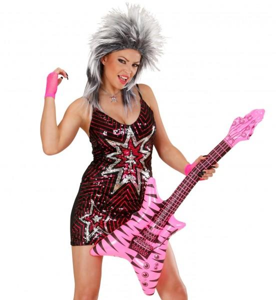 Aufblasbare Gitarre Im Zebramuster
