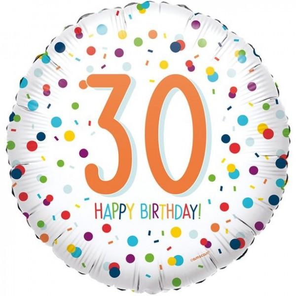 Balon foliowy konfetti na 30 urodziny 45cm