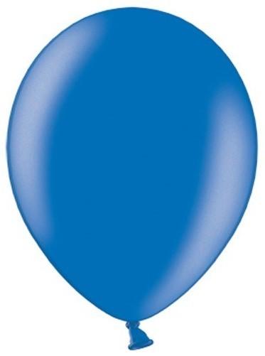 10 Partystar metallic Ballons königsblau 30cm