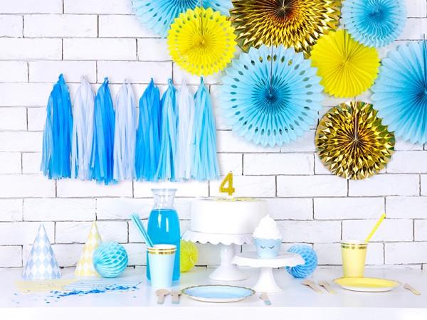 6 Candy Party Pappteller pastellblau 18cm 3