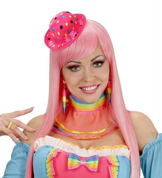 Pinker Clown Mini Hut Punkte Parade