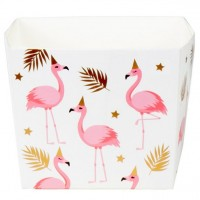 6 Party Flamingo Snack Boxen 400ml