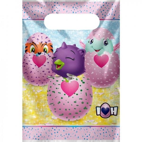 8 bolsas de regalo Hatchimals para regalar 23 x 17cm