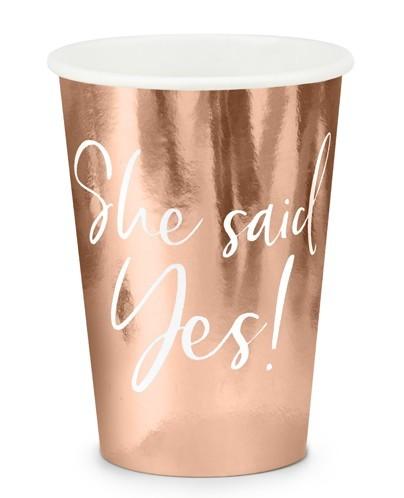 6 JGA bridal alarm paper cups 220ml