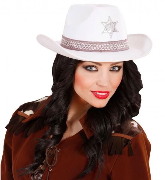 Sheriff Cowboyhut Weiß