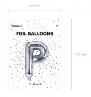 Buchstabe P Folienballon silber 35cm
