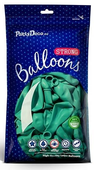10 globos estrella de fiesta aguamarina 27cm
