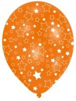 6 Party Luftballons Bunt Funkelnde Sterne