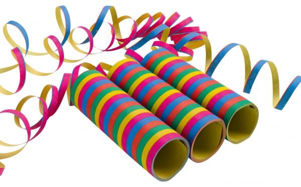 3 Kunterbunte Rainbow Party Spaß Luftschlangen
