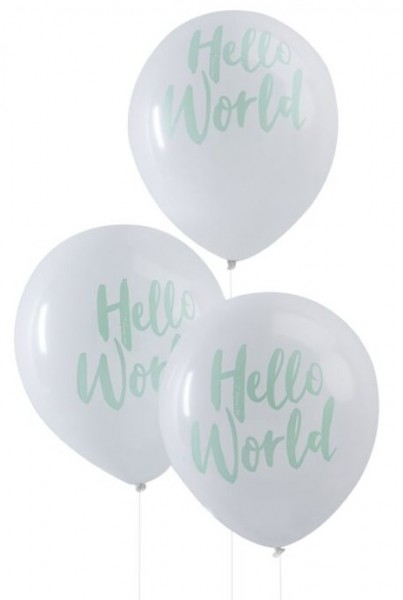 10 ballons Hello World 30cm