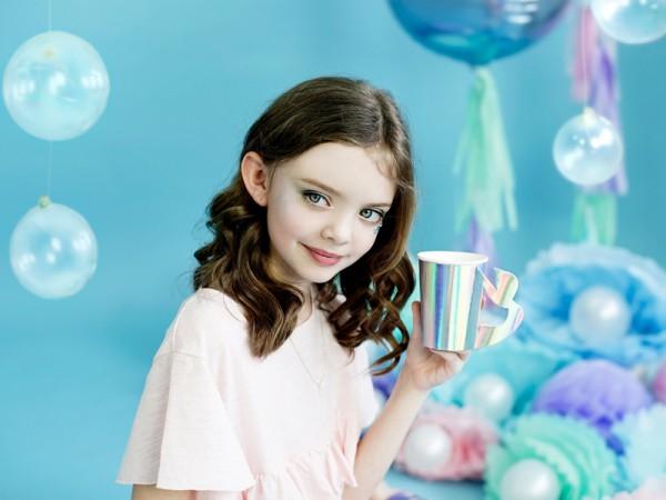 6 Mermaid Princess Pappbecher 220ml 3