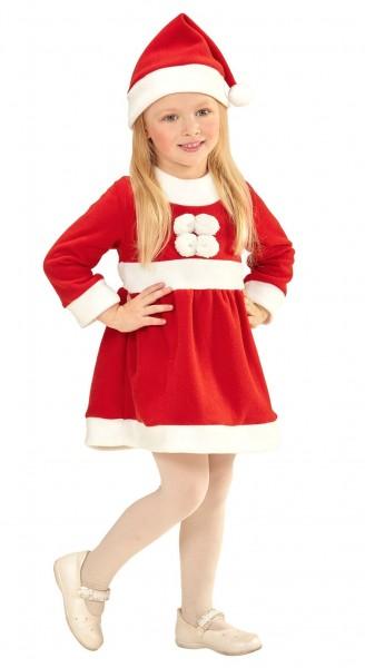 Santa Clara Christmas dress with hat for children