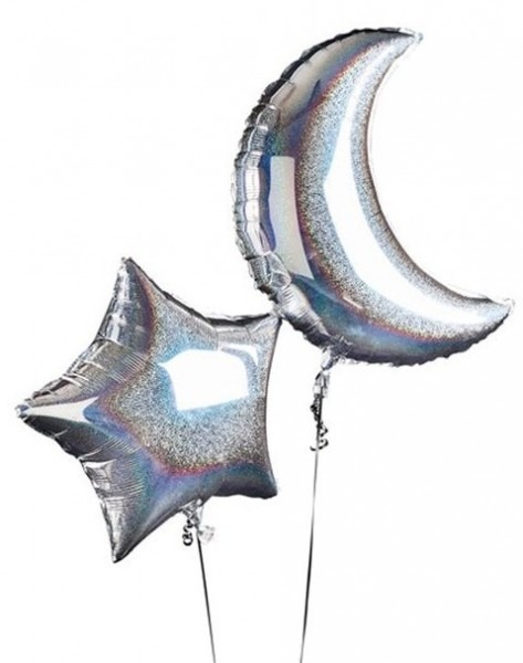 Holographic Night Sky Foil Balloons