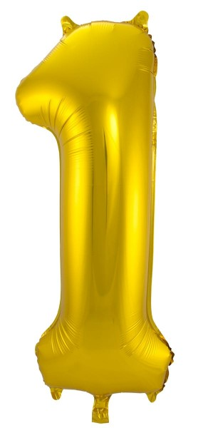 Foil balloon number 1 gold