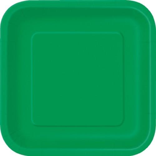 16 papirplader Vera grøn 18cm