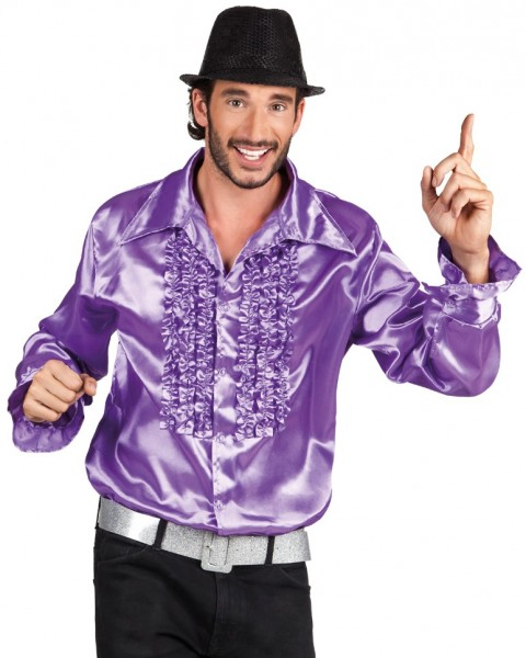 Ruben Ruffle Shirt In Purple