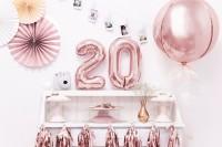 Vorschau: Metallic Zahlenballon 2 roségold 35cm