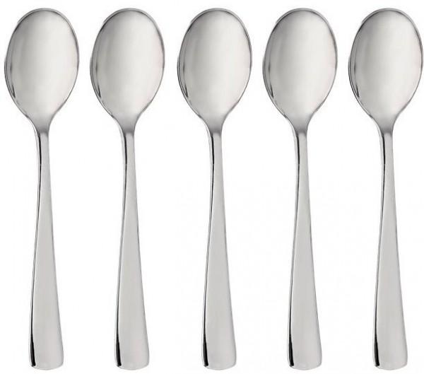32 wysokiej jakości plastikowe łyżeczki małe srebrne