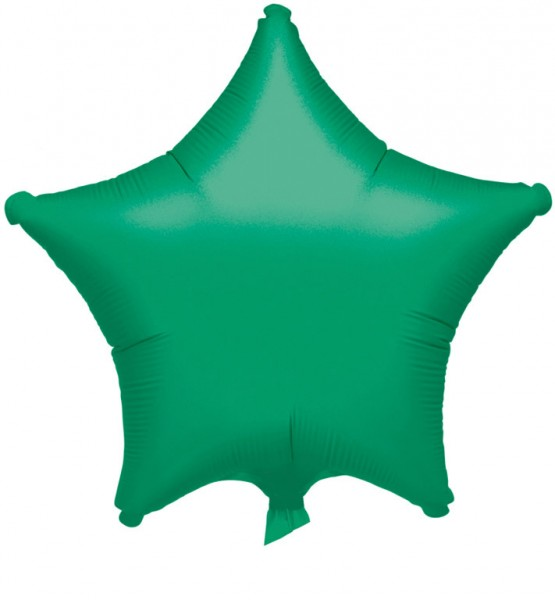 Dark green star balloon 48cm