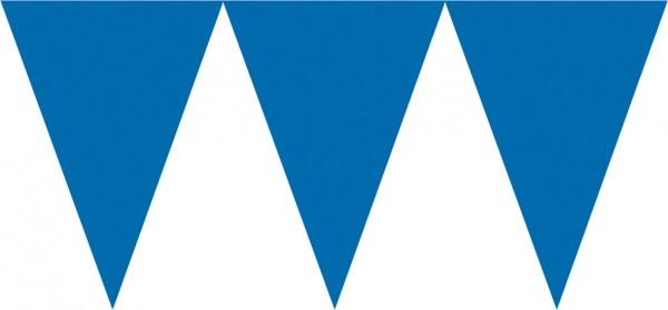 Guirnalda de banderines azules Party 4,5m