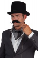 Moustache noire élégamment bouclée