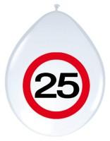 8 Verkehrsschild 25 Latexballons 30cm