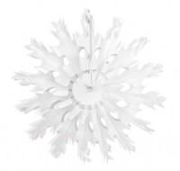 Papierrosette im Schneeflockendesign 37cm