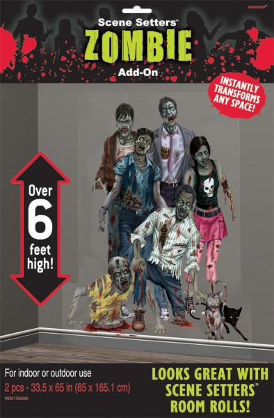 2 Zombie Town Wandbilder 1,65m x 85cm