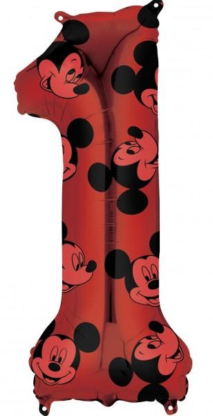 Mickey Mouse Zahl 1 Ballon 66cm