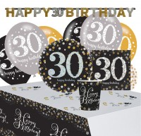 Golden 30th Birthday Deko Set 41-teilig