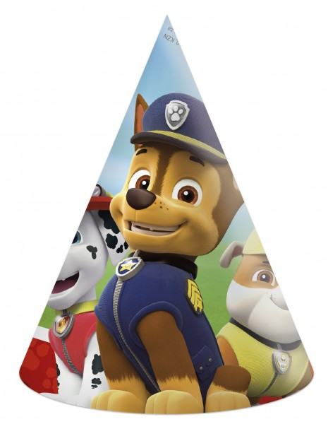 6 Paw Patrol Team party hats