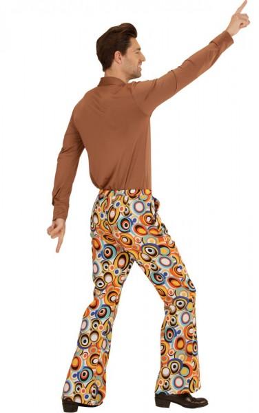 Pantaloni iconici anni '70 svasati per uomo