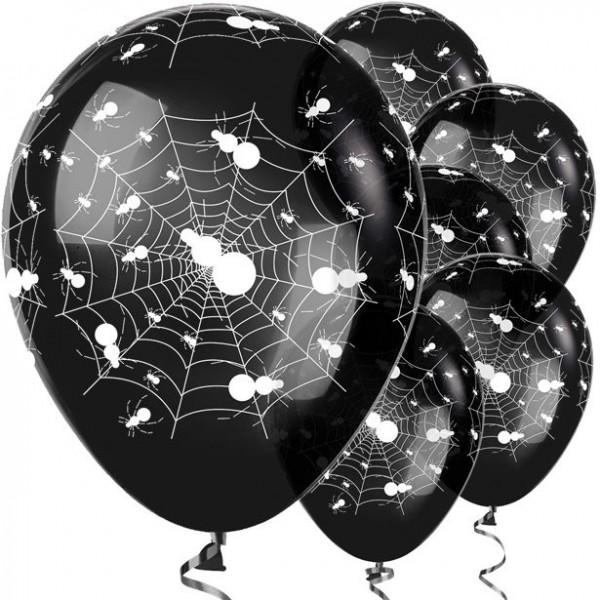 25 Black Spider Ballons 30cm