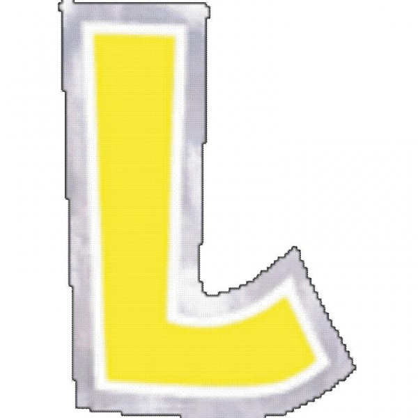 48 balloon stickers letter L.