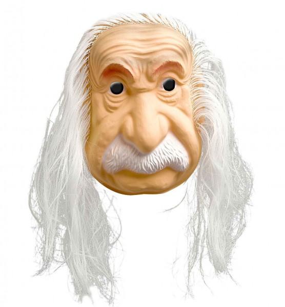 Zakręcona maska Einsteina z włosami