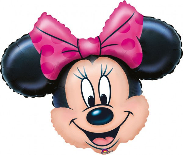Minnie Mouse face foil balloon