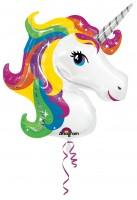 Folienballon Einhorn Rainbow Sparkle