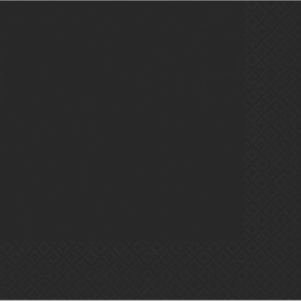 50 serwetek imprezowych 33 cm czarny