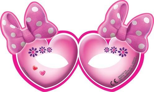 6 Minnie Mouse Juwelenwelt Masken