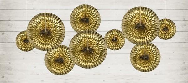 3 rozety w kolorze metalicznego złota Marielle