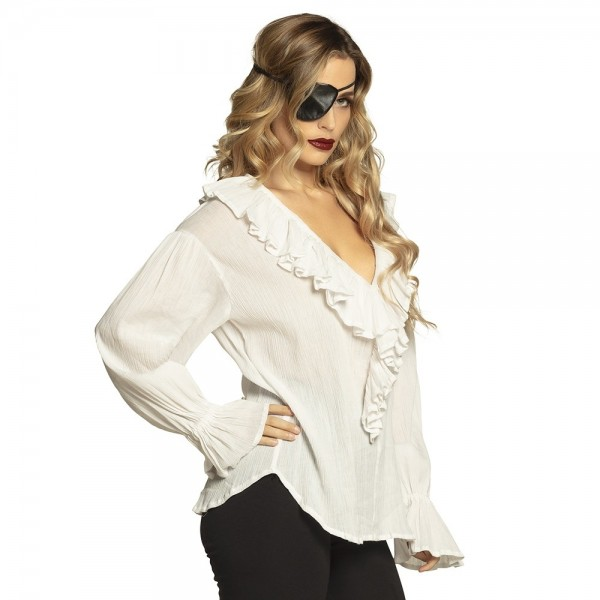 Pirate blouse for women, cream