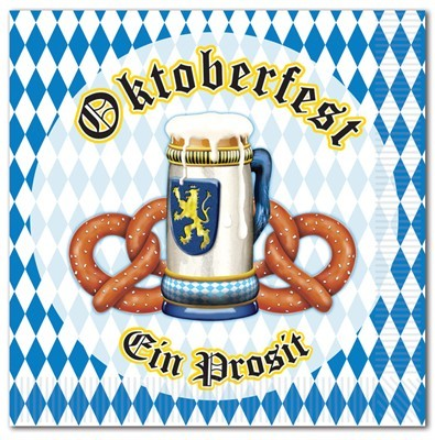 Serviettes Oktoberfest bavaroises