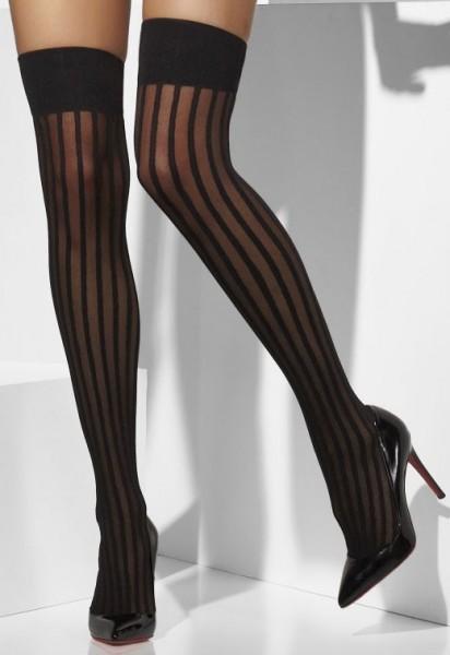 Sexy Overknees Mit Vertikalen Streifen