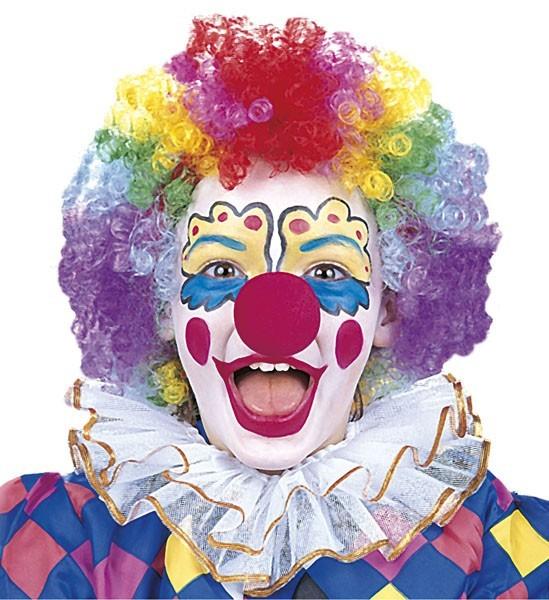Bunte Clown Jilly Kinderperücke